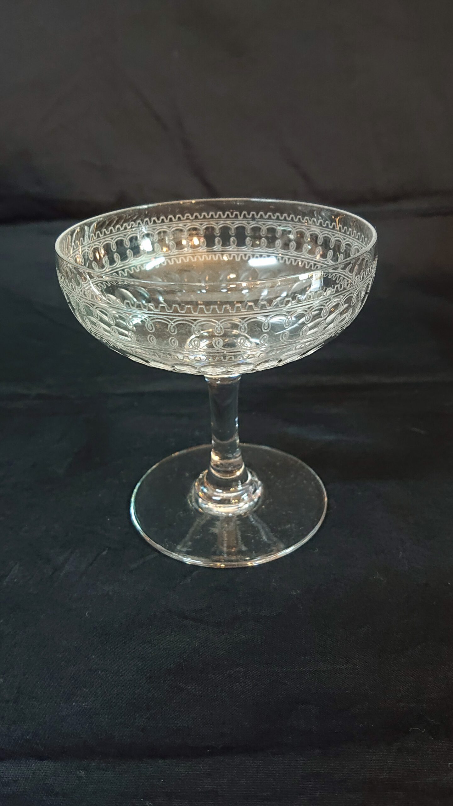 オールドバカラ シャンパンクープグラス